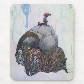 Swedish Christmas Goat - Jullbocken Mouse Pad