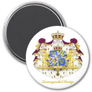 Swedish Coat of Arms 3 Inch Round Magnet