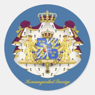 Swedish Coat of Arms Classic Round Sticker