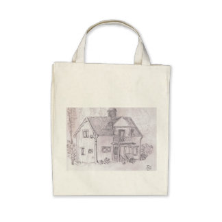 Swedish Cottage Tote Bags