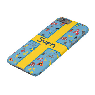 Swedish culture items with flag barely there iPhone 6 case