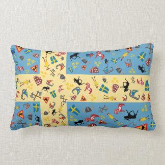 Swedish culture items with flag lumbar pillow