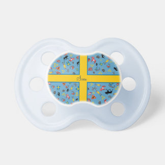 Swedish culture items with flag pacifier