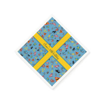 Swedish culture items with flag paper napkin