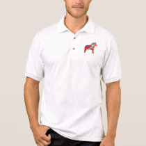 Swedish Dala Horse Dalecarlian Horse Polo Shirt