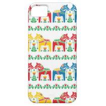 Swedish Dala Horse floral folk pattern iPhone SE/5/5s Case