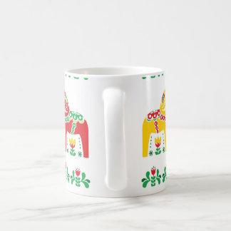 Swedish Dala Horse floral folk pattern Coffee Mug