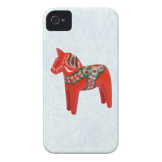 Swedish Dala Horse  Folk Art iPhone 4 Cases