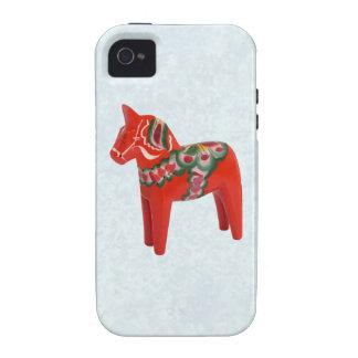 Swedish Dala Horse  Folk Art iPhone 4/4S Covers