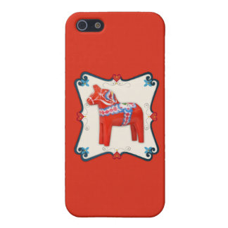 Swedish Dala Horse Folk Art Framed Case For iPhone SE/5/5s
