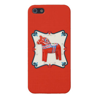 Swedish Dala Horse Folk Art Framed iPhone SE/5/5s Case