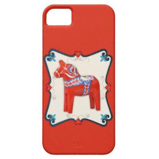 Swedish Dala Horse Folk Art Framed iPhone SE/5/5s Case