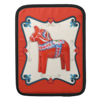 Swedish Dala Horse Folk Art Framed Sleeve For iPads
