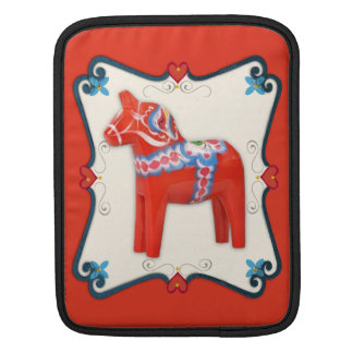 Swedish Dala Horse Folk Art Framed Sleeve For iPads