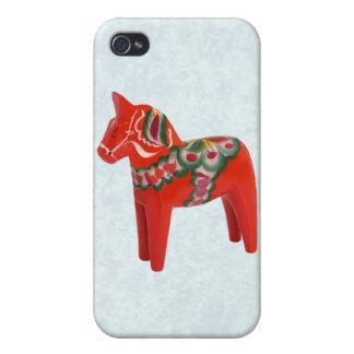 Swedish Dala Horse  Folk Art iPhone 4/4S Cases