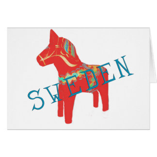Swedish Dala Horse gifts & greetings Greeting Card