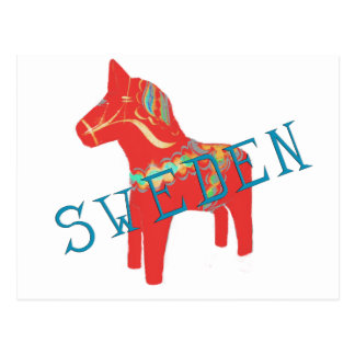 Swedish Dala Horse gifts & greetings Postcards