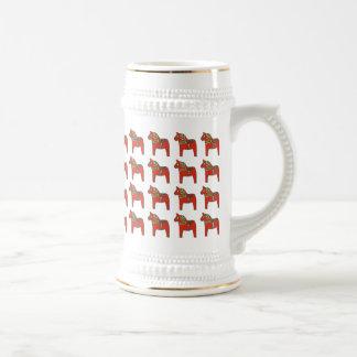 Swedish Dala Horse Pattern Mug