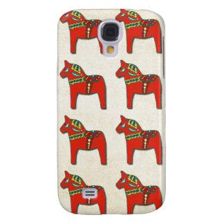 Swedish Dala Horse Pattern Samsung Galaxy S4 Case