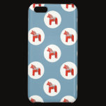 Swedish Dala Horse Scandinavian Blue Pattern Case For iPhone 5C