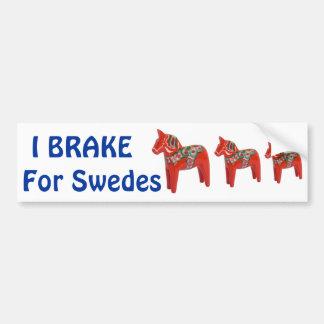 Swedish Dala Horse Scandinavian Bumper Sticker