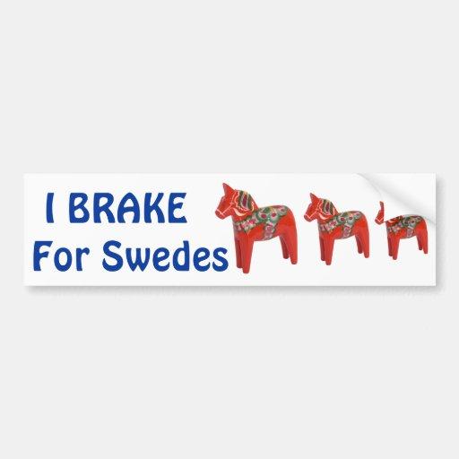 Swedish Dala Horse Scandinavian Car Bumper Sticker