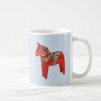 Swedish Dala Horse Scandinavian Coffee Mug