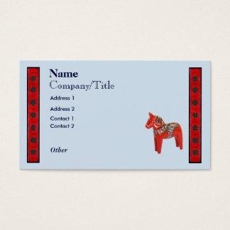Swedish Dala Horse Scandinavian Design Business Card