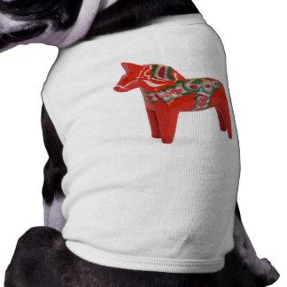 Swedish Dala Horse Scandinavian Dog T Shirt