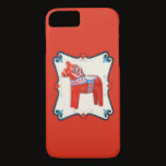 Swedish Dala Horse Scandinavian Folk Art iPhone 8/7 Case