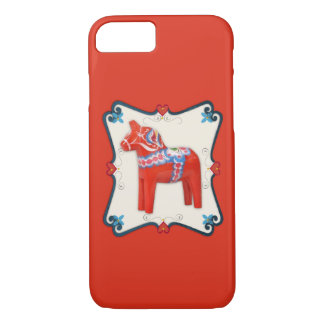 Swedish Dala Horse Scandinavian Folk Art iPhone 8/7 Case