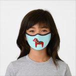 Swedish Dala Horse Scandinavian Folk Art  Premium Face Mask