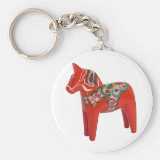 Swedish Dala Horse Scandinavian Keychain