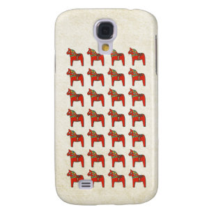 Swedish Dala Horse Scandinavian Pattern Samsung Galaxy S4 Cover