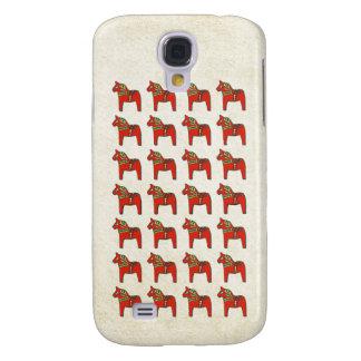 Swedish Dala Horse Scandinavian Pattern Samsung Galaxy S4 Covers