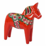 """Swedish Dala Horse Scandinavian Statuette<br><div class=""""desc"""">A Dalecarlian horse or Dala horse (Swedish: Dalahast) is a traditional wooden statuette of a horse originating in the Swedish province of Dalarna. In the old days the Dala horse was mostly used as a toy for children, in modern times it has become a symbol of Dalarna as well as...</div>"""