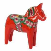 Swedish Dala Horse Scandinavian Statuette