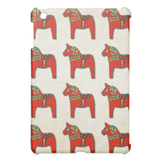Swedish Dala Horse Scandinavian Tile Pattern iPad Mini Case