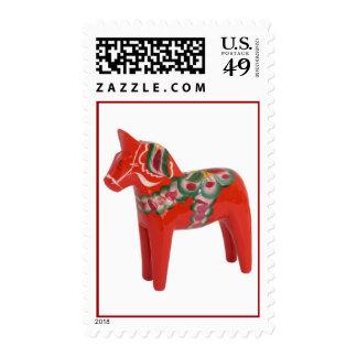 Swedish Dala Horse Stamp