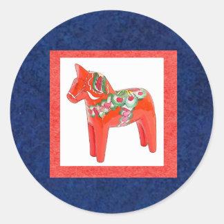 Swedish Dala Horse Stickers