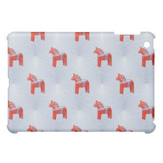 Swedish Dala Horse Tile Pattern Blue Cover For The iPad Mini