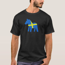 Swedish Dala Horse with Flag T-Shirt