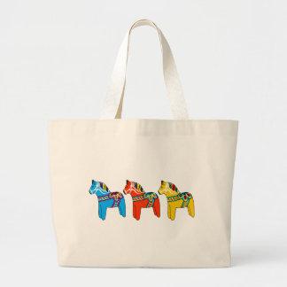 Swedish Dala Horses Jumbo Tote Bag
