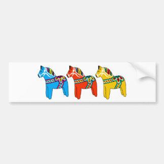 Swedish Dala Horses Bumper Sticker