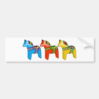 Swedish Dala Horses Bumper Sticker