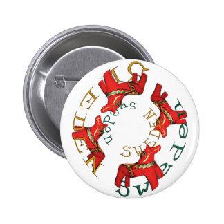 Swedish Dala Horses Button