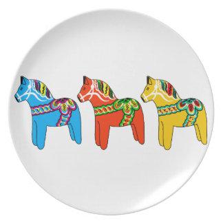 Swedish Dala Horses Plate