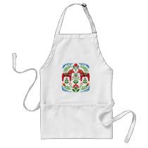 Swedish Dala Horses Red Adult Apron