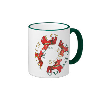 Swedish Dala Horses Ringer Mug