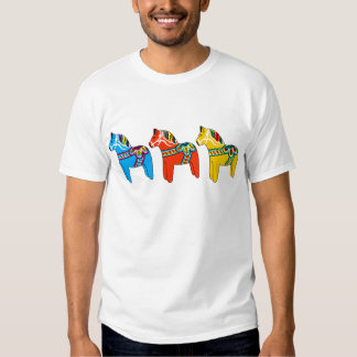 Swedish Dala Horses T Shirt